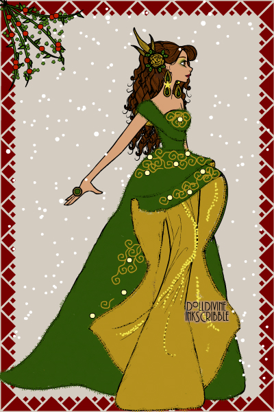 Emerald Christmas! ~ #Gold #Emerald #Christmas #Gown