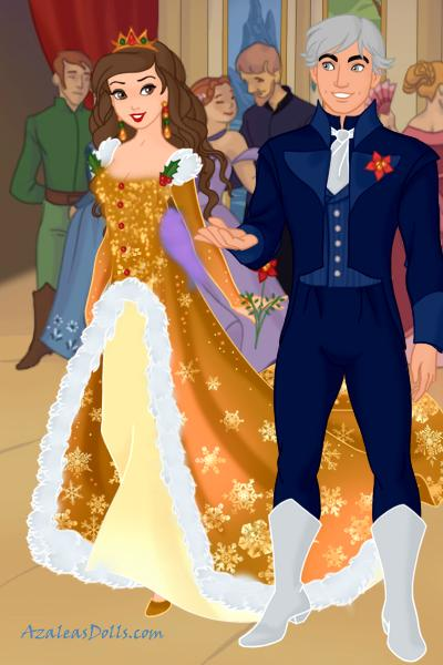 Royal couple at the Christmas ball! ~ #Christmas #Gold #Couple #Love #Ball #Ma