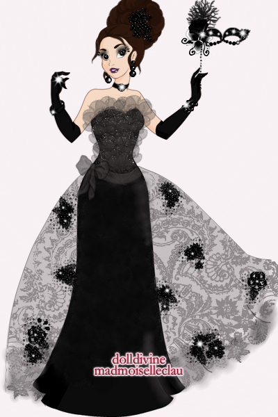 Gothic Masquerade Gown! ~ The sparkling applications on the lace a