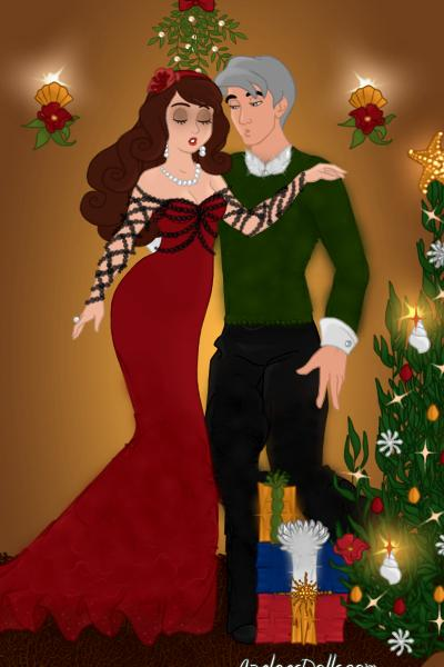 First Christmas as husband and wife! ~ #Christmas #Love #Mistletoe #Lace #Man #