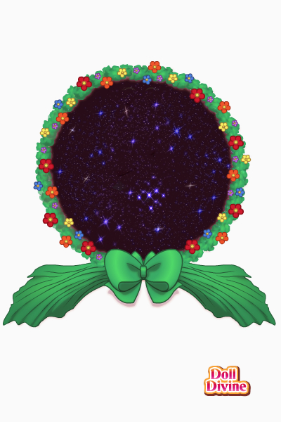 Space Wreath ~ random background, feel free to use it b