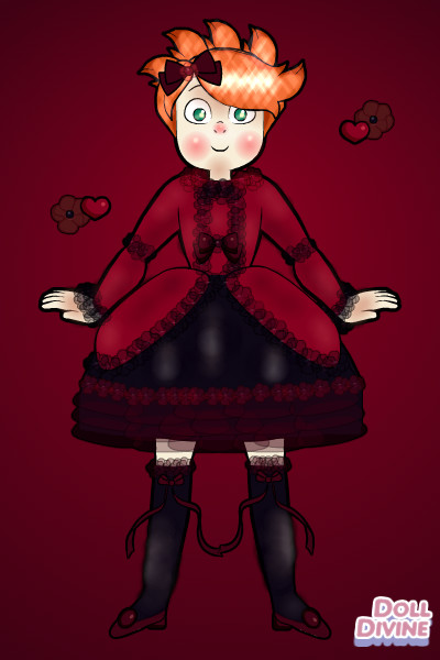 Gothic Harvey! ~ Harvey in a Gothic Lolita dress for the