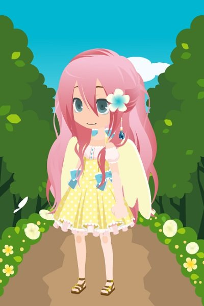 Anime Fluttershy ~ Boredom equals dolls made on http://www.