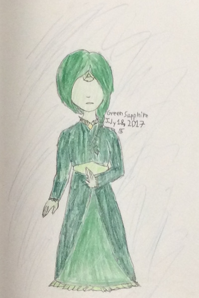 Green Sapphire ~ I made an off-color gem. Yes, I know her
