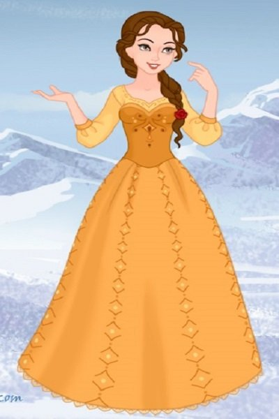 Belle as a Nordic Folk Princess ~ #Disney #disneyprincess #nordicfolkdisne