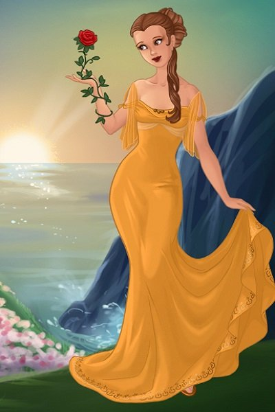 Belle as the Goddess of Roses and Inner- ~ #Disney #disneygoddess #beautyandthebeas