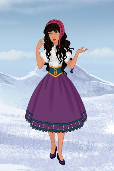 Esmeralda as a Nordic Folk Princess ~ #Disney #nordicfolkdisney #thehunchbacko