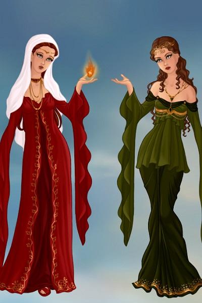 Hestia and Hera ~ by mythologydiva