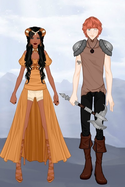 Anora and Finnick O\'Malley ~ #thequestforarunia Another two character
