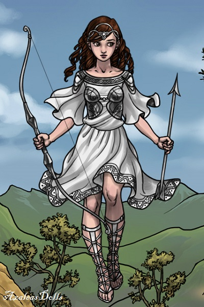 Artemis ~ #Artemis was the daughter of Zeus and th