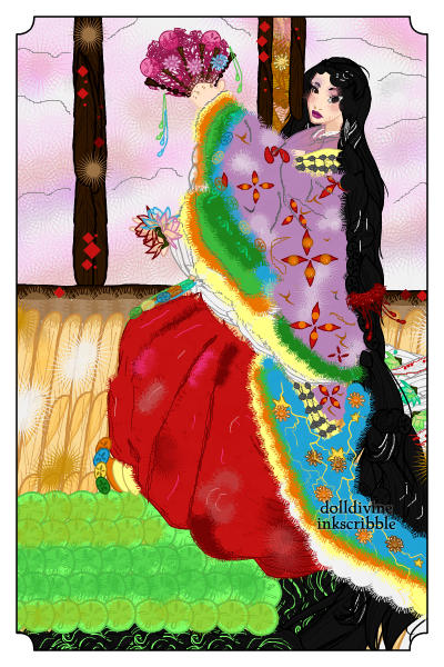 Heian Girl in Japan ~ Inspired by Heian period of Japanese art
