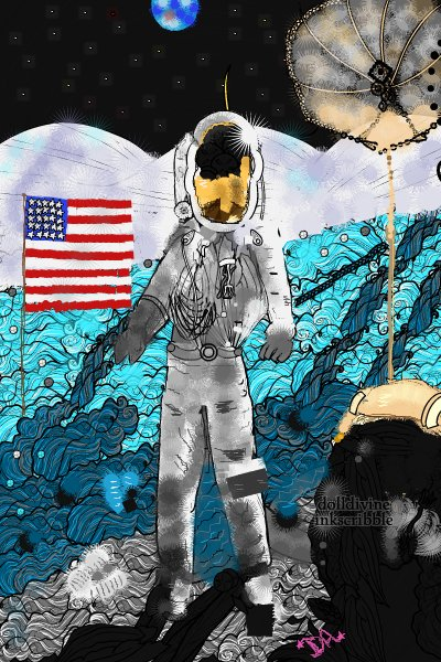 Man on the Moon - July 20th, 1969 ~ One small step for man, one giant leap f
