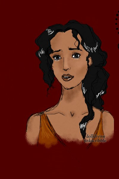\Don\'t leave me alone in this world\ ~ Ellaria Sand sketch