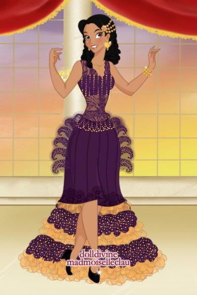 Royally Me ~ So...me in purple and gold. Not my best
