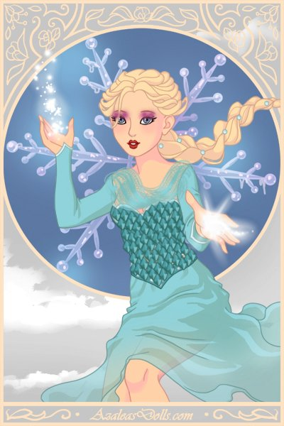 Elsa the Snow Queen ~ Elsa on the Magical Elf Maker. I've seen