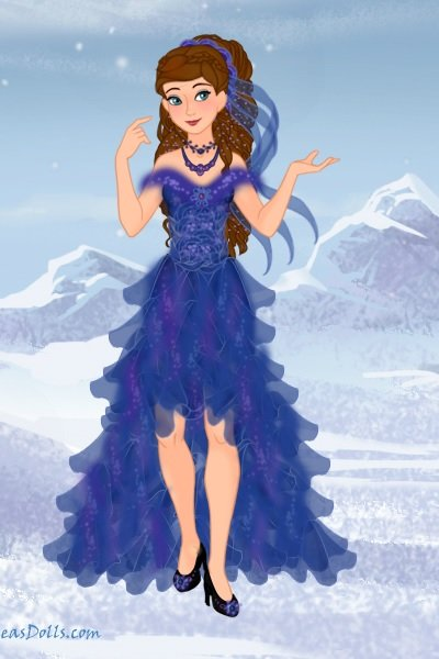 A Snow Queen Gown ~ Inspired by Fiona's wonderful Snow Queen