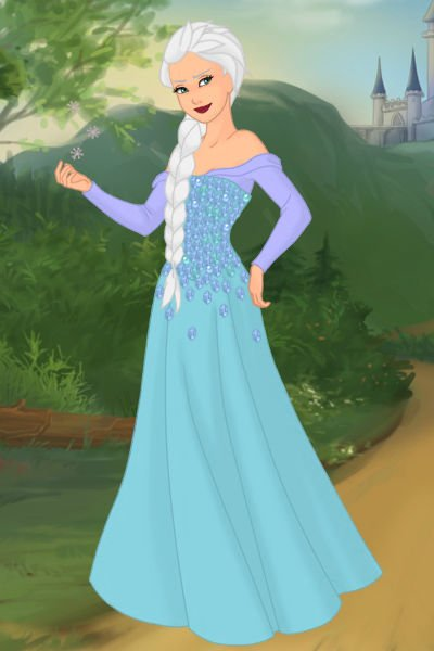 Elsa ~ Her hair is really, really hard to make.