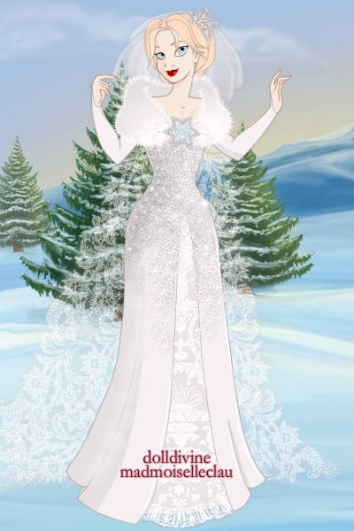 Elsa ~ A frozen-inspired wedding dress! #disney