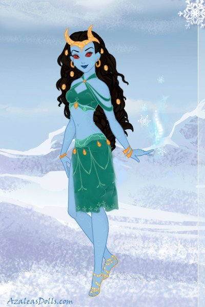 Jotun Lady Loki ~ Lady Loki in Jotun form, because this ma
