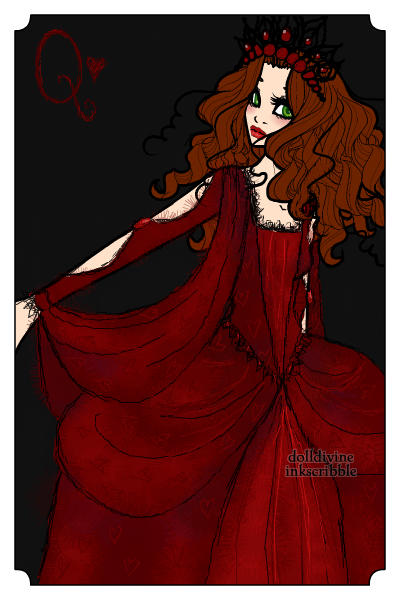 Her Majesty the Queen of Hearts ~ Red is a fun colour. #aliceinwonderland