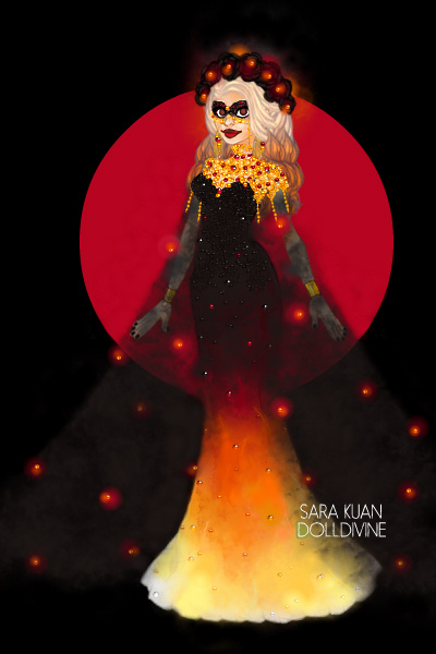 DDNTM: Odette Lawrence ~ Theme: fire, plus mask! This is my secon