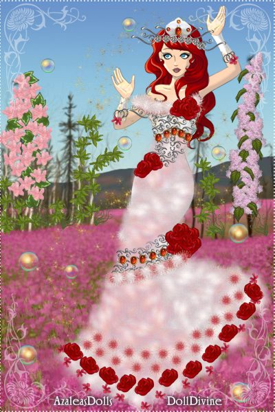 Lady Rea\'s Ruby Rose Dress ~ Lady Rea is my OC. She is originally fro