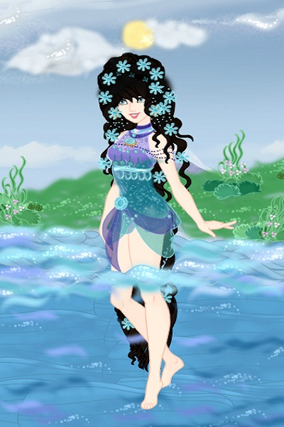 Tanjian Lady Bathing ~ This is my OC Lady Ree'a during her yout