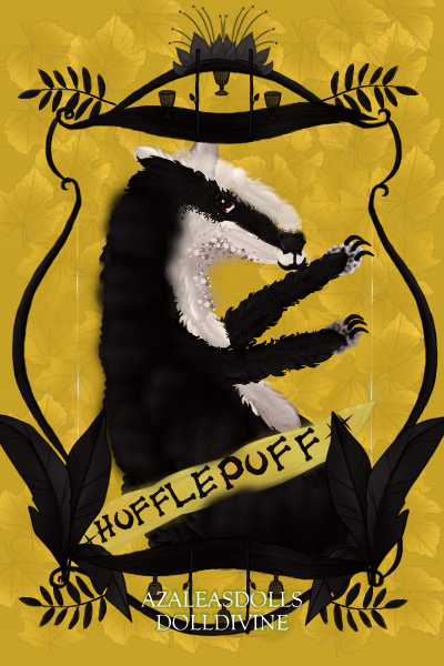 Hufflepuff Crest ~ I'm no artist so please excuse the crapp