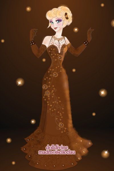 Chocolat ~ Here is the finished dress. I'm not 100%