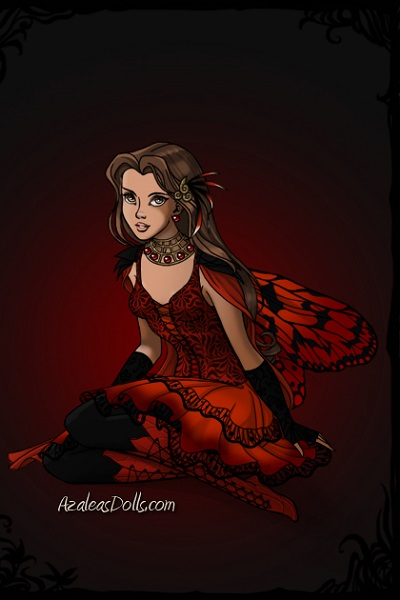 Meg Warrior Fey ~ I made her this Red Admiral Butterfly Fa
