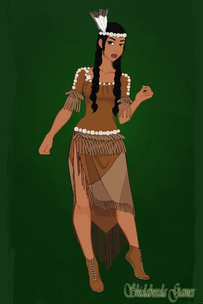 Period Accurate Pocahontas ~ Most Powhatan dresses of the period seem