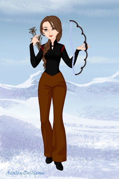 Katniss in Winter ~ Katniss Everdeen from Hunger Games.  Ple