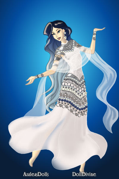 Temple Dancer ~ Barefoot she whirls, a flash of blue and