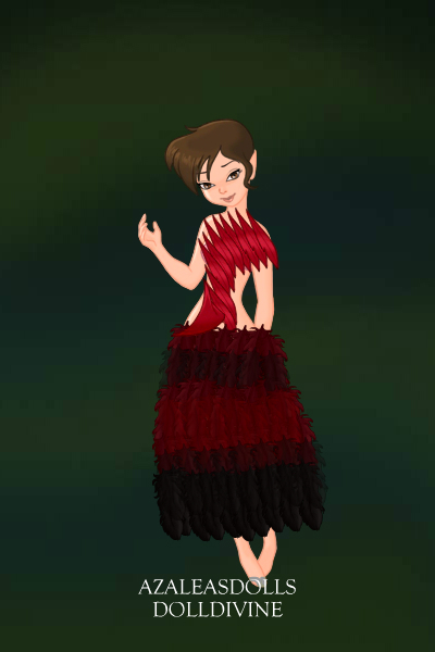 Red Ostrich in Feather Dress ~ For Lady_Llamacorn's Challenge.  This is
