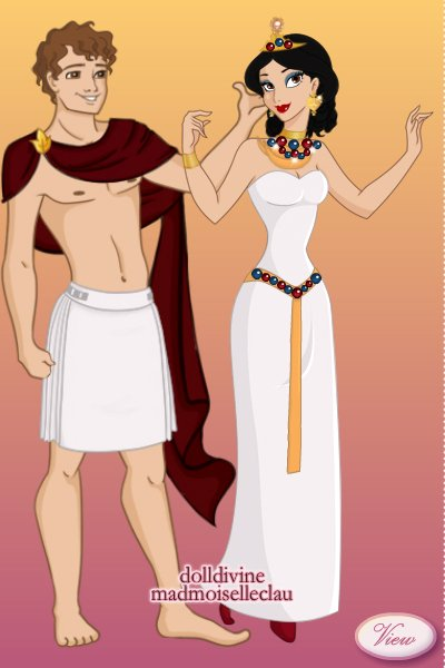 Julius Caesar and Cleopatra ~ Cleopatra originally ruled jointly with
