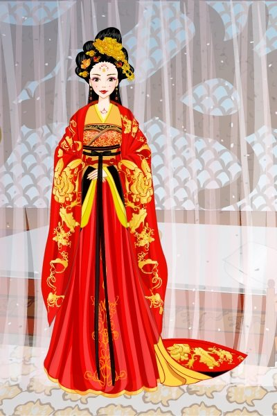 Chinese Red Empress By Saralynarati