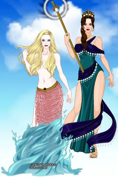Aphrodite and Hera ~ by SaralynArati
