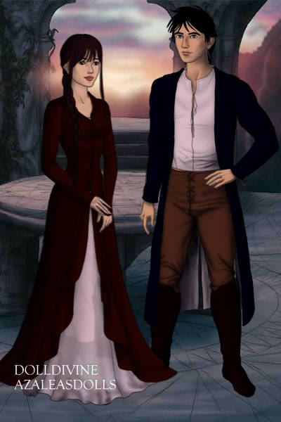 Elizabeth Bennett and Mr. Darcy ~ Just a quick doll, since I've become gre