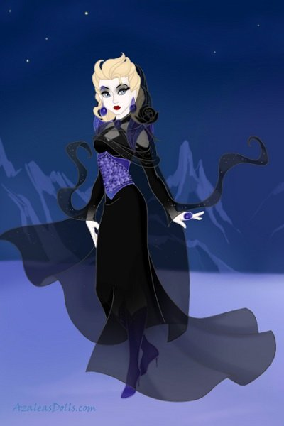 Goth Elsa ~ Hopefully after further tinkering she's