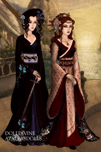 \Geisha and her handmaiden\ - by LadyLea ~ A gift for me by the wonderful @LadyLeaf
