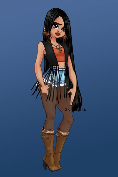 Modern Pocahontas, Prince to the Ess! ~ Also known as PokeHuntress, she's very i