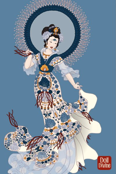 Chinese Porcelain, Incarnate ~ Okay, she's done.  Redone.  Finished.  C