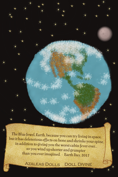The Blue Jewel ~ A kinder and gentler Earth Day doll, wit