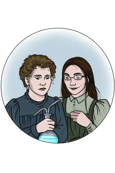 Marie Curie and SaralynArati - by NightO ~ A prize for winning the Lady of that Nam