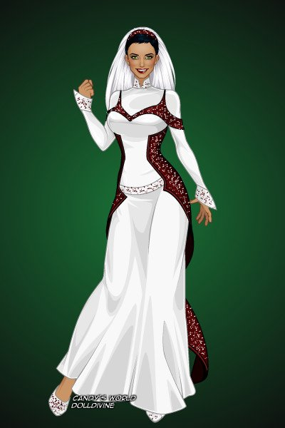 Christmas Themed Bridal Gown ~ I understand that this would belong in R