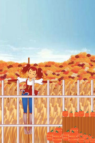 Autumn Scarecrow ~ HAPPY THANKSGIVING EVERYONE!<br><br>avai