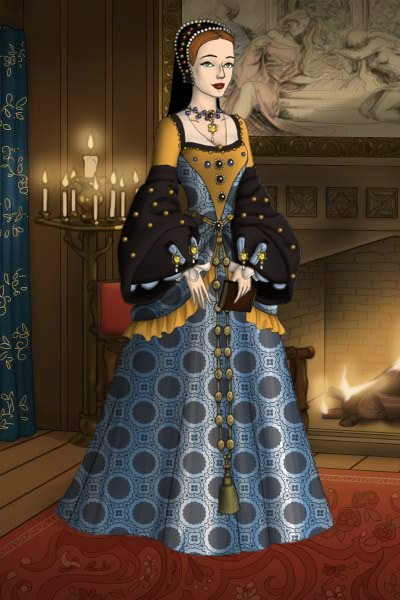 A Tudor Lady In Her Best Dress ~ A Tudor Lady In Her Best Gown.