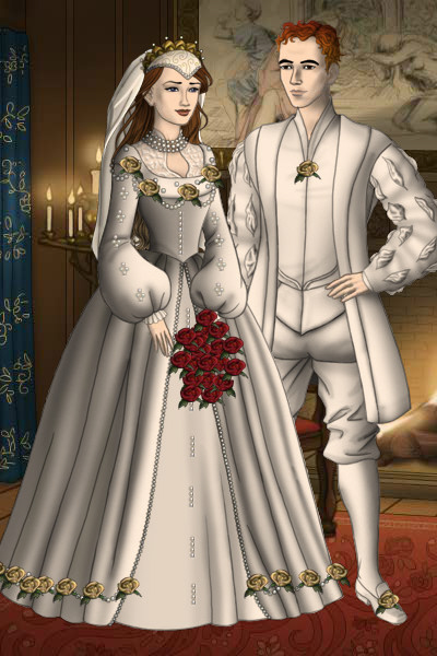Tudor Wedding Couple ~ A couple at their wedding. I hope you li