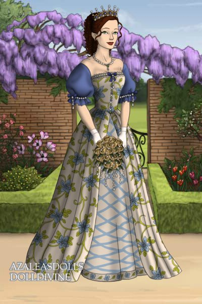 Blue Flower Wedding Gown ~ Hope you like it! :))))