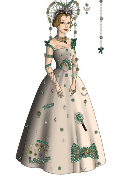 Peppermint Gown - Request From Belnika ~ I wasn't sure if you meant the colour pe